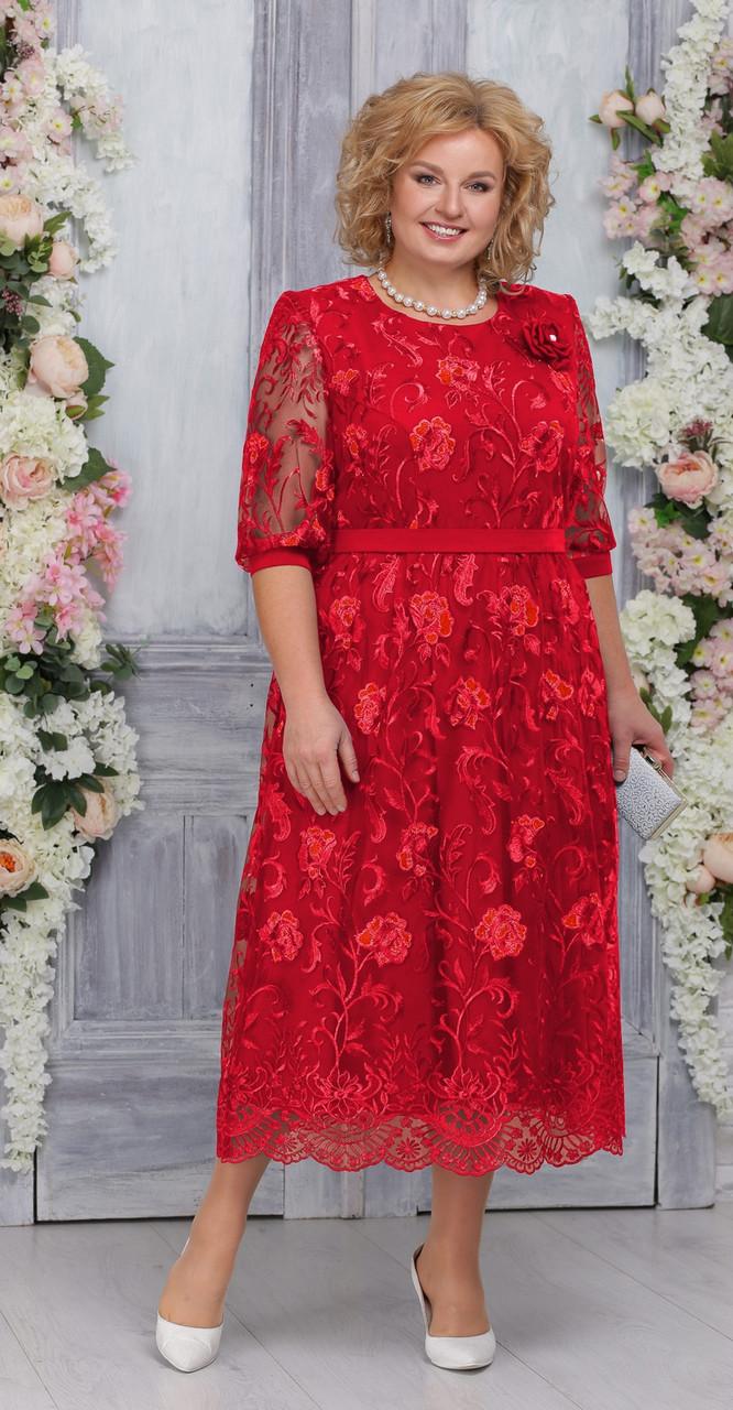 Платье Ninele-7262, красный, 52