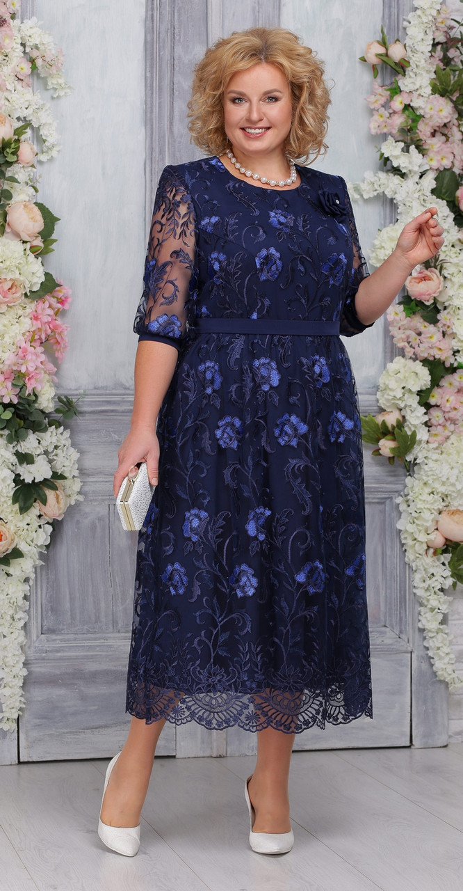 Платье Ninele-7262/1, синий, 52