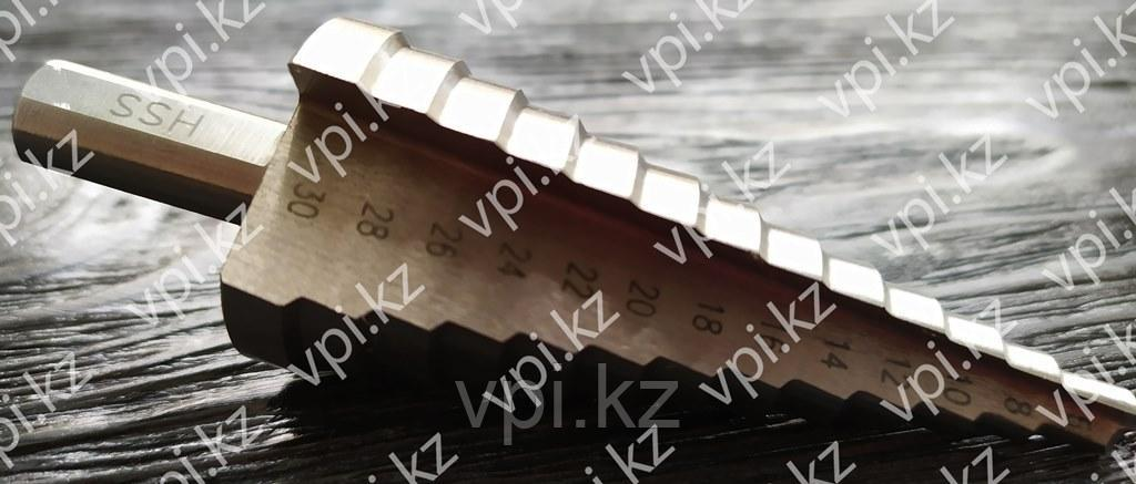Сверло ступенчатое по металлу, Р6М5, 6-30мм, 13 ступеней, БАРС