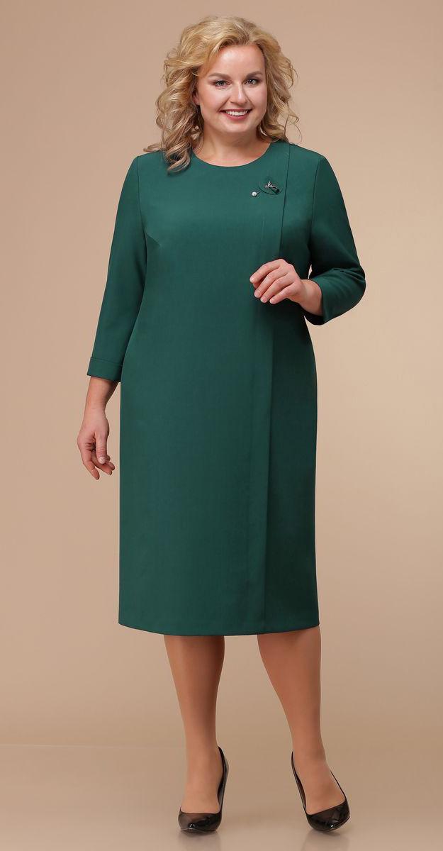 Платье Линия-Л-Б-1764, зеленые тона, 60