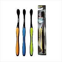 Зубная щетка с бамбуковым угольным напылением (Корея) 1 шт.
