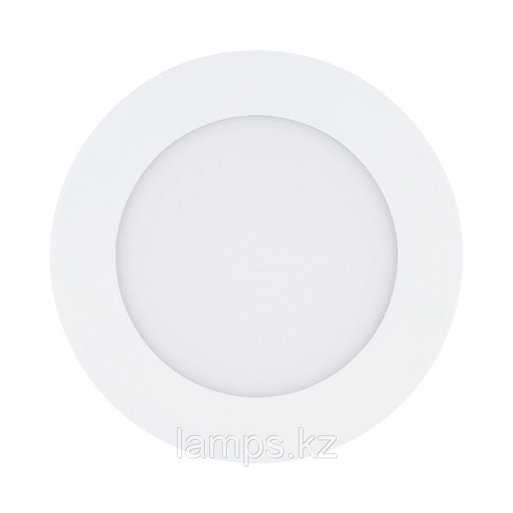 Светильник встраиваемый Eglo  FUEVA  LED 5.5W 3000K