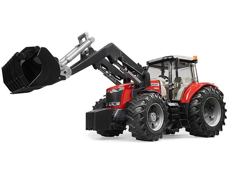 Bruder Игрушечный Трактор JMassey Ferguson 7600 с погрузчиком (Брудер 03-047)