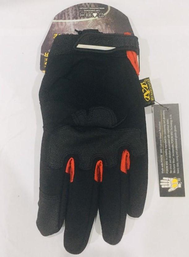 Перчатки тактические M-Pact Glove с пальцами (цвет красный, черный) - фото 3