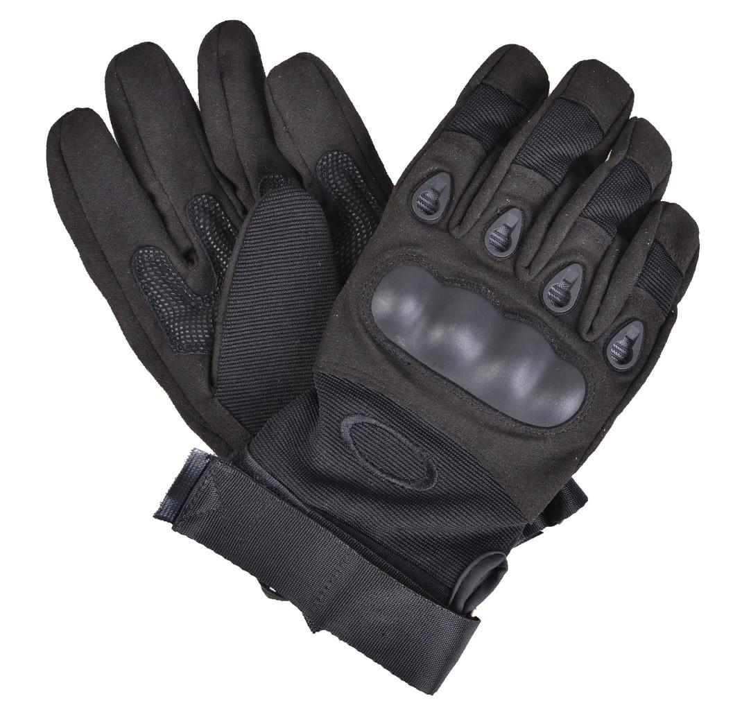 Перчатки тактические с пальцами (цвет черный) - фото 2