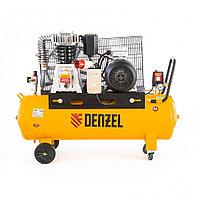 Компрессор DR4000/100 масляный ременный 10 бар произв. 690 л/м мощность 4 кВт// Denzel