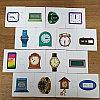 Игра с липучками Время  На 3 языках +Расписание  уроков на неделю, фото 2