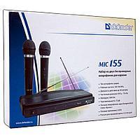 Микрофон вокальный Defender MIC-155 набор беспроводной, 64155