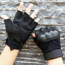 Перчатки тактические без пальцев Размер XL (цвет черный), фото 2