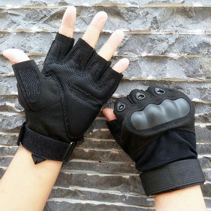 Перчатки тактические без пальцев (цвет черный) - фото 3