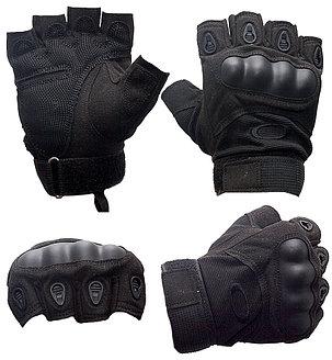 Перчатки тактические без пальцев (цвет черный), фото 2