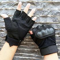Перчатки тактические без пальцев Размер M (цвет черный), фото 2