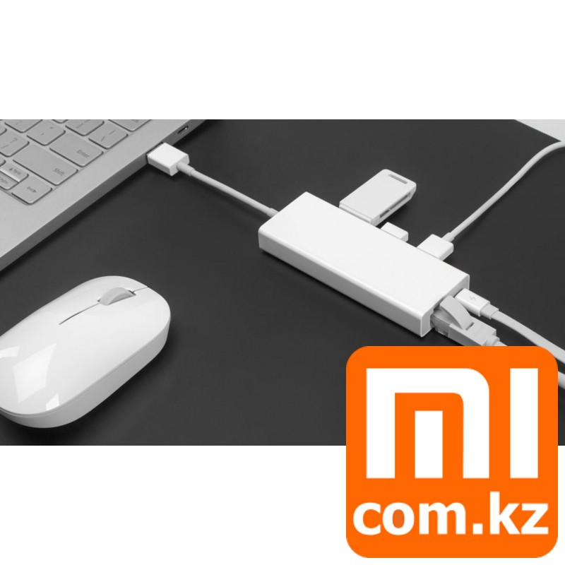 Многофункциональный адаптер (переходник) Xiaomi Mi USB 3.0 to LAN multifunctional adapter. Конвертер