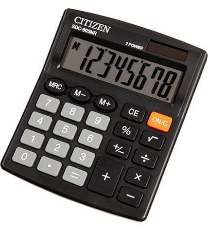 Калькулятор Citizen настольный SDC-805NR 8Р