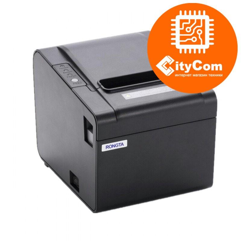 Принтер чеков Rongta RP325, 80mm POS термопринтер чековый для магазинов, бутиков, кафе и др. Арт.5945
