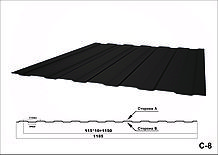 Профнастил оцинкованный с полимерным покрытием С8 глянец RAL1015