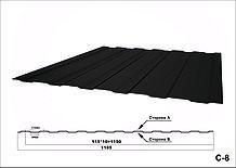 Профнастил оцинкованный с полимерным покрытием С8 глянец RAL2004