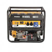 Генератор бензиновый PS 80 EA, 8,0 кВт, 230В, 25л, коннектор автоматики, электростартер// Denzel