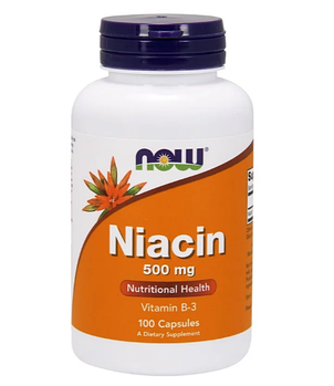 Now Foods, Ниацин, 500 мг, 100 капсул