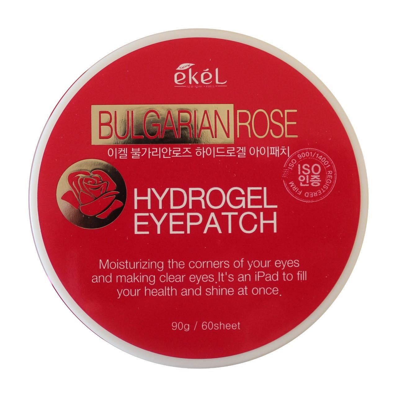 Ekel Гидрогелевые Патчи для век с Экстрактом Болгарской Розы Bulgarian Rose Hydrogel Eye Patch 60шт.