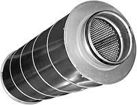 Шумоглушитель воздуха для круглых воздуховодов диаметром 160 мм. L = 600 мм