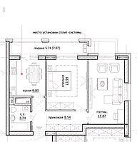 2 комнатная квартира в ЖК Inju Arena 55.02 м², фото 1