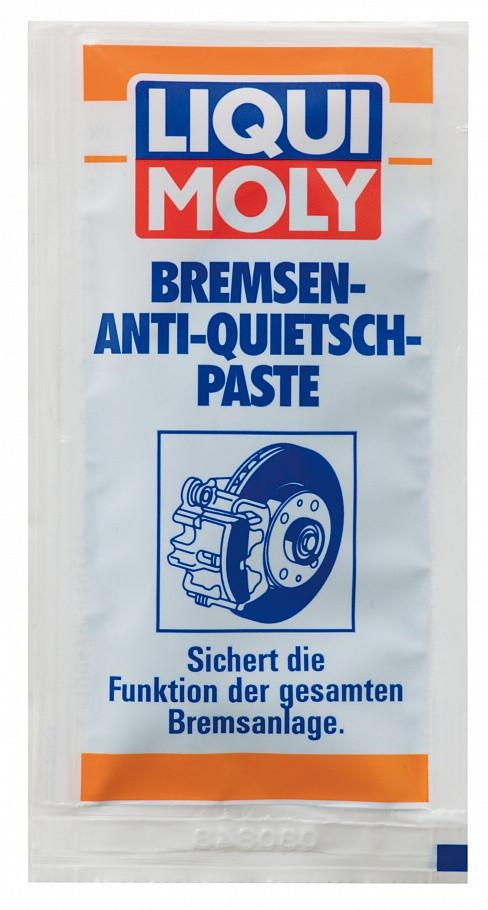 Синтетическая смазка для тормозной системы Liqui Moly Bremsen-Anti-Quietsch-Paste 10g.