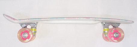 Пенни Борд (пластборд) цвет белый, розовый, фото 2