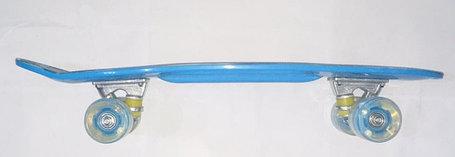 Синий Пенни Борд с ручкой (пластборд), фото 2