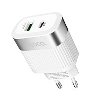 Мощный сетевой адаптер Hoco C58A, White, фото 1