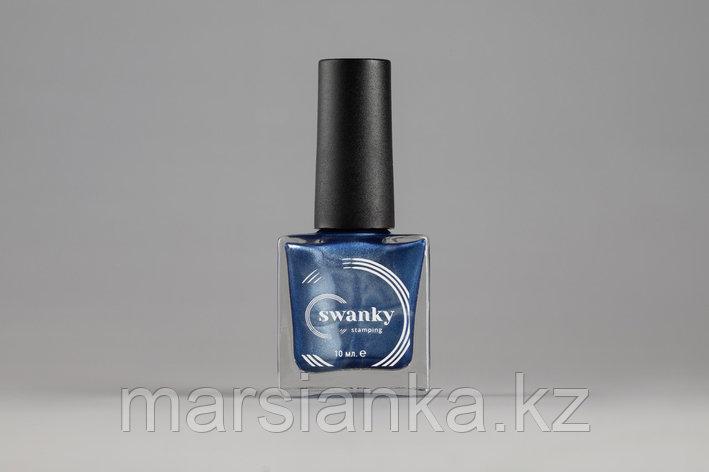 Лак для стемпинга Swanky Stamping Metallic 09, джинсовый, 10 мл., фото 2