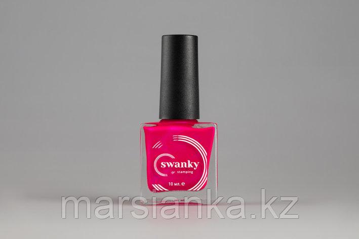 Лак для стемпинга Swanky Stamping Metallic 12, фуксия, 10мл., фото 2