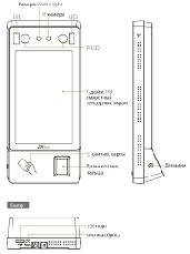 Мультибиометрический терминал учета рабочего времени ZKTeco G4, фото 3