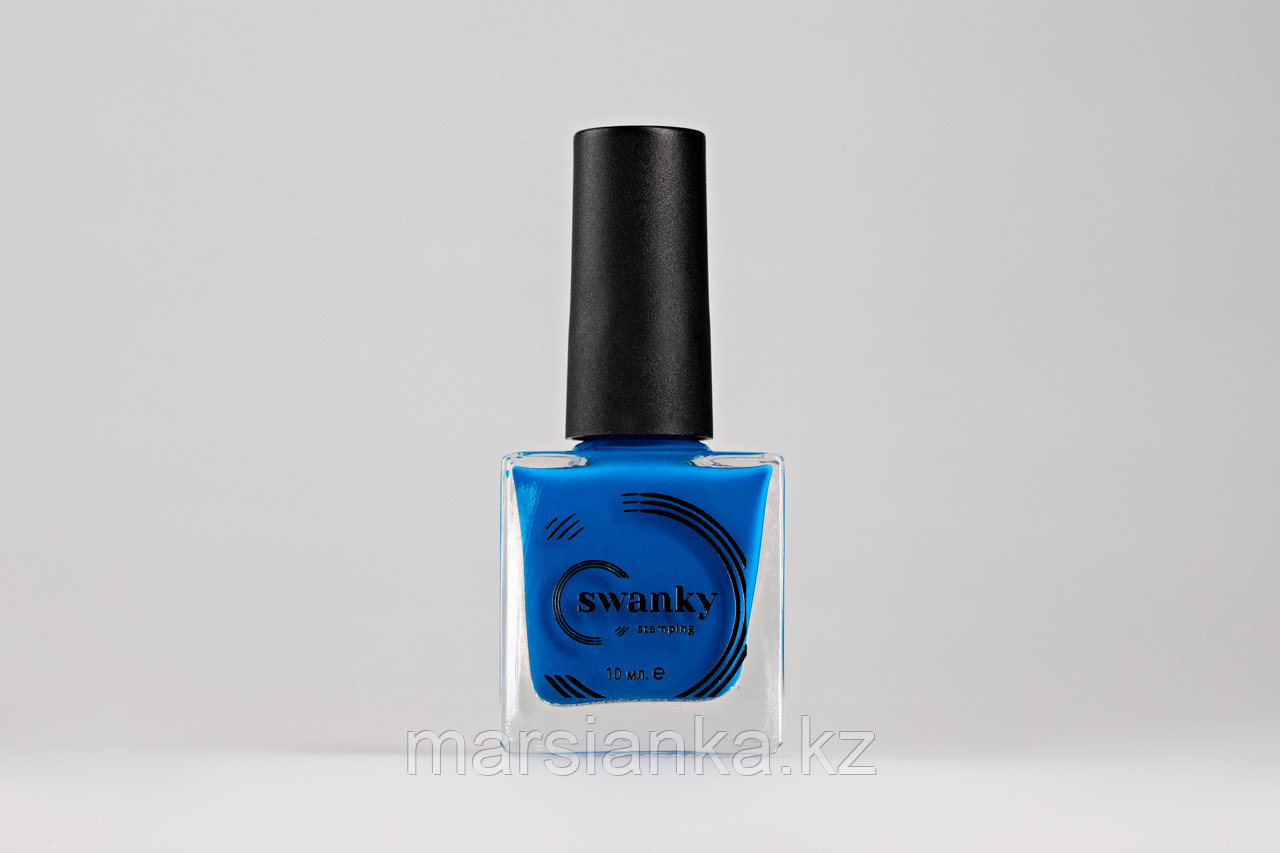 Лак для стемпинга Swanky Stamping №014, неоново-синий,10 мл