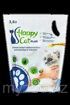 Наполнитель Happy cat (Хеппи Кэт) селикогель, 3,8 л 1,7кг нейтральный без запаха