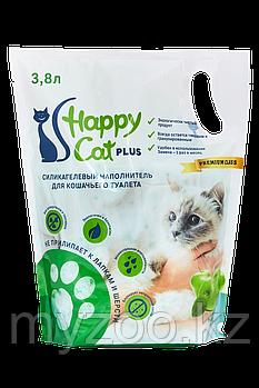 Наполнитель Happy cat (Хеппи Кэт) селикогель, 3,8 л 1,7кг яблоко