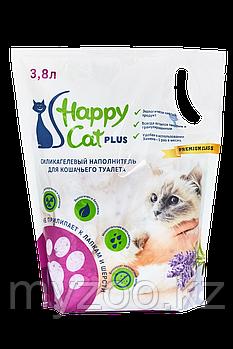 Наполнитель Happy cat (Хеппи Кэт) селикогель, 3,8 л 1,7кг лаванда