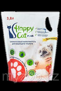 Наполнитель Happy cat (Хеппи Кэт) селикогель, 3,8 л 1,7кг клубника