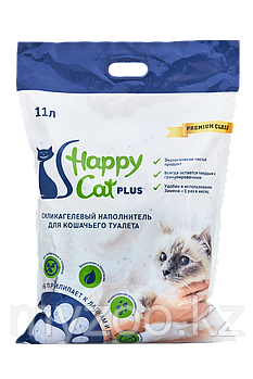 Наполнитель Happy cat (Хеппи Кэт) селикогель, 11 л 5кг нейтрал без запаха