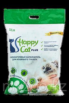 Наполнитель Happy cat (Хеппи Кэт) селикогель, 11 л 5кг яблоко