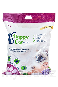 Наполнитель Happy cat (Хеппи Кэт) селикогель, 22 л 10кг лаванда