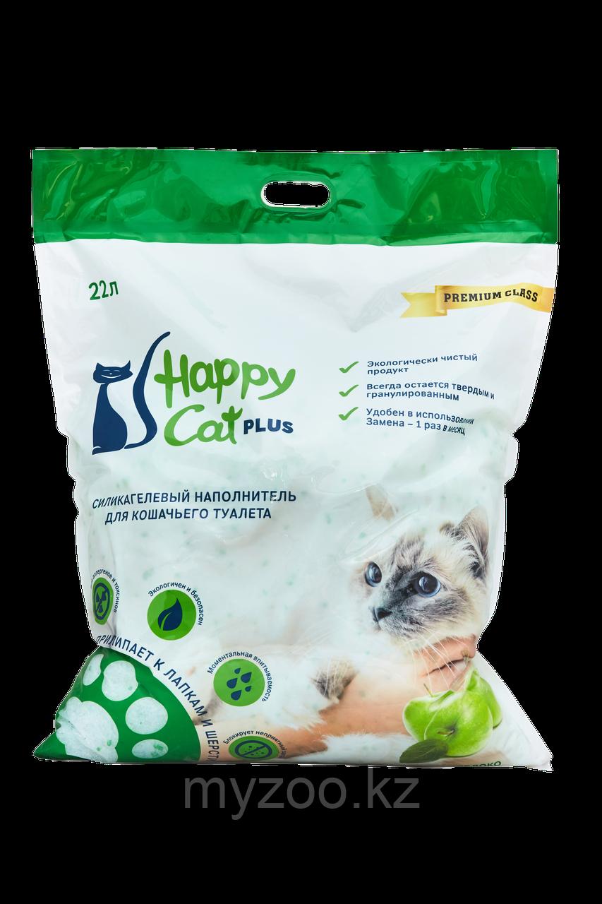 Наполнитель Happy cat (Хеппи Кэт) селикогель, 22 л 10кг яблоко
