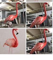 Фигура фламинго из пенопласта на заказ