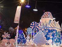 Декорации новогодние из пенопласта на заказ