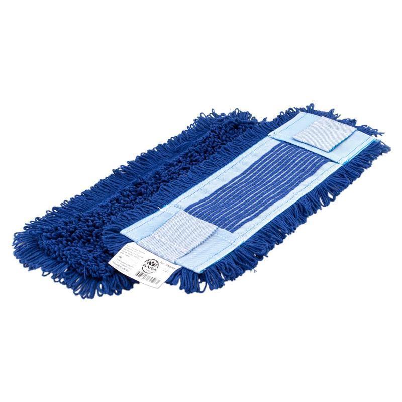 Моп плоский, 40х13 см, микрофибра, ухо+карман, синий НОВИНКА