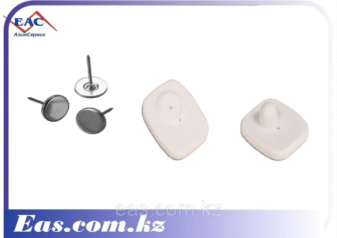 Антикражный Защитный датчик - Mini Square 40х50 мм белый с гвоздиком