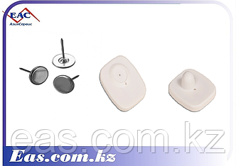 Антикражный Защитный датчик - Mini Square 40х50 мм белый с гвоздиком, фото 2