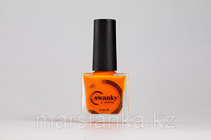 Лак для стемпинга Swanky Stamping №017, неоново-оранжевый,10 мл, фото 2