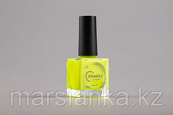 Лак для стемпинга Swanky Stamping №018, неоново-желтый, 10 мл.