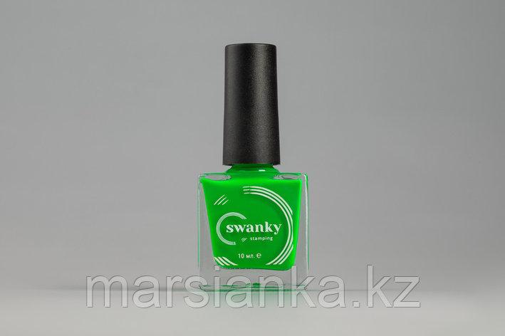 Лак для стемпинга Swanky Stamping №020, неоново-салатовый, 10 мл., фото 2